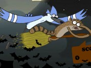 Regular Show Halloween Cave Down Game