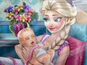 Frozen Elsa Birth Caring Game