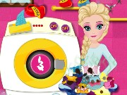 Elsa Drying Clothes Game