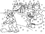 Winter Holiday Coloring Pages Game