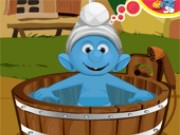 Smurfs Baby Bathing Game