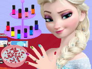 Elsa Nail Salon Game