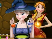 Elsa And Anna Superpower Potions Game
