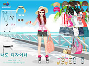 Beach Doll Dress Up Game