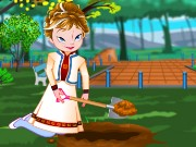 Frozen Anna Fruit Garden Game