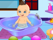 Cute baby bathing Game