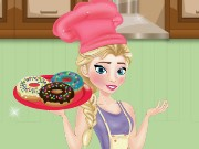 Elsa Cooking Donuts Game