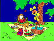 Garfield Online Coloring Game Game