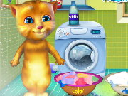 Ginger Washing Clothes Game