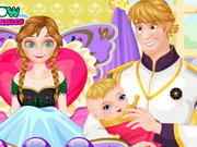 Frozen Anna Give Birth To A Baby Game