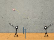 Stick Figure Badminton Game