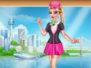 Elsa Stewardess Fashion Game
