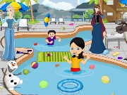 Frozen Pool Party Cleaning Game