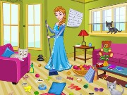 Elsa Kitty Room Cleaning Game