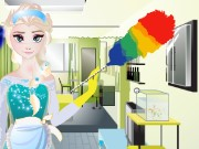 Elsa House Cleaning Game