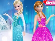 Frozen sisters dressup Game