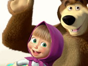 Masha and the Bear Candy Shooter Game