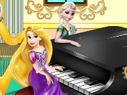 Elsa And Rapunzel Piano Contest Game