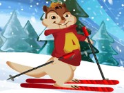 Alvin Downhill Skiing Game