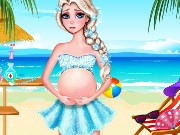 Pregnant Elsa Beach Day Game