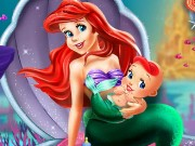 Ariel And The New Born Baby Game