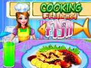 Cooking Fresh Red Fish Game
