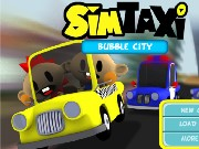 Sim Taxi Bubble City Game