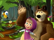 Masha and the Bear Forrest Adventure Game
