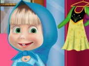 Masha and the Bear Frozen Costum Game