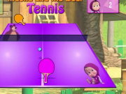 Masha and the Bear Tennis Game