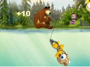 Masha and the Bear Fishing Game