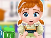 Baby Anna Cooking Block Cakes Game