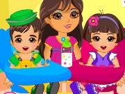 dora twins babysitter spiel