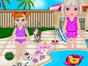 Frozen Baby Swimming Pool Decor Game