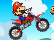 Mario Acrobatic Bike Game