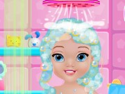 Baby Elsa Bathing Game