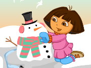Dora Snow Challenges Game