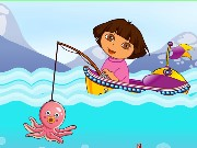 Dora Fishing Adventure Game