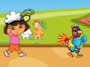 Dora Thanksgiving Chicken Catching Game