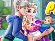 Pregnant Elsa Twins Birth Game