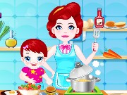 Baby Lulu Cooking with Mom Game
