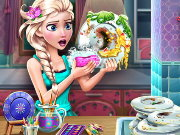 Elsa Dish Washing Realife Game