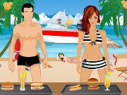 Beach Serving Game Game