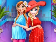 Elsa And Anna Pregnant Mall Shopping Game