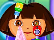 Cute Dora at the Eye Clinic Game