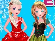 Elsa With Anna Dressup Game