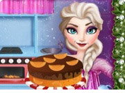 Elsa Cooking Christmas Cake Game