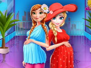 Elsa And Anna Pregnant Shopping Game
