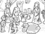 Nativity Scene Coloring Game