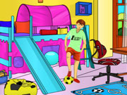 Kids Bedroom Coloring Game